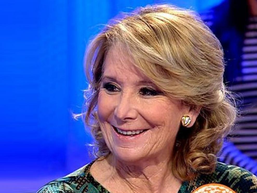 Esperanza Aguirre se incorpora al programa