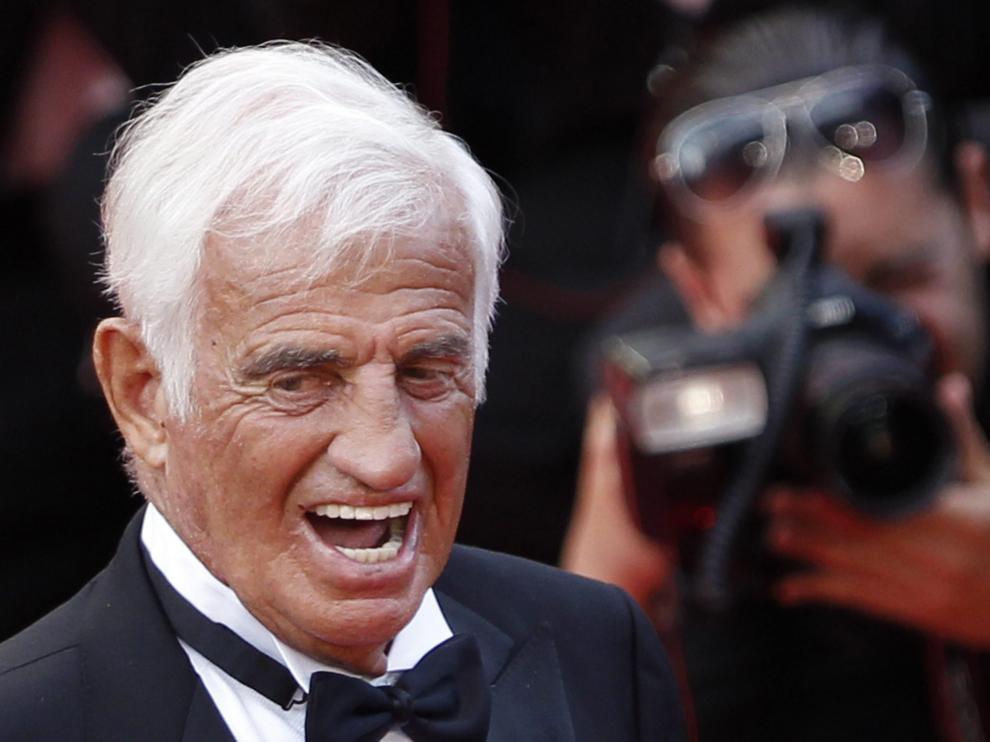 Belmondo en un homenaje en Cannes en 2011