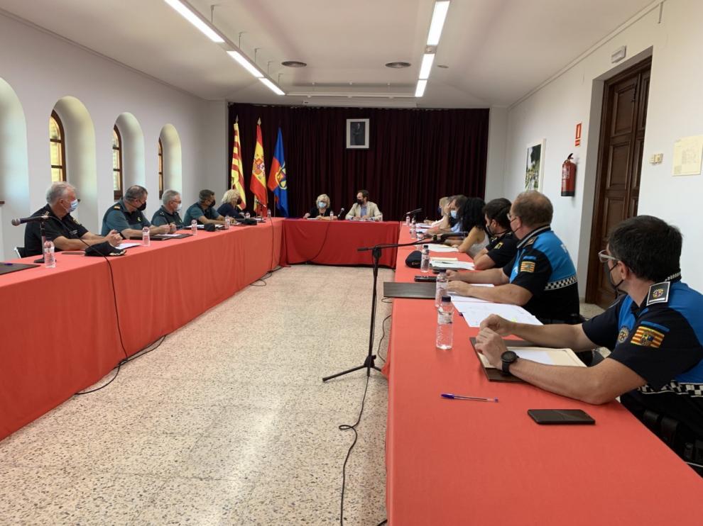 Reunión de la Junta de Seguridad de Monzón.