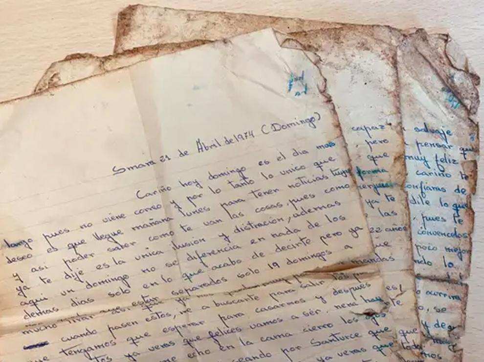 La carta está fechada el 21 de abril de 1974 en Santurce (País Vasco)