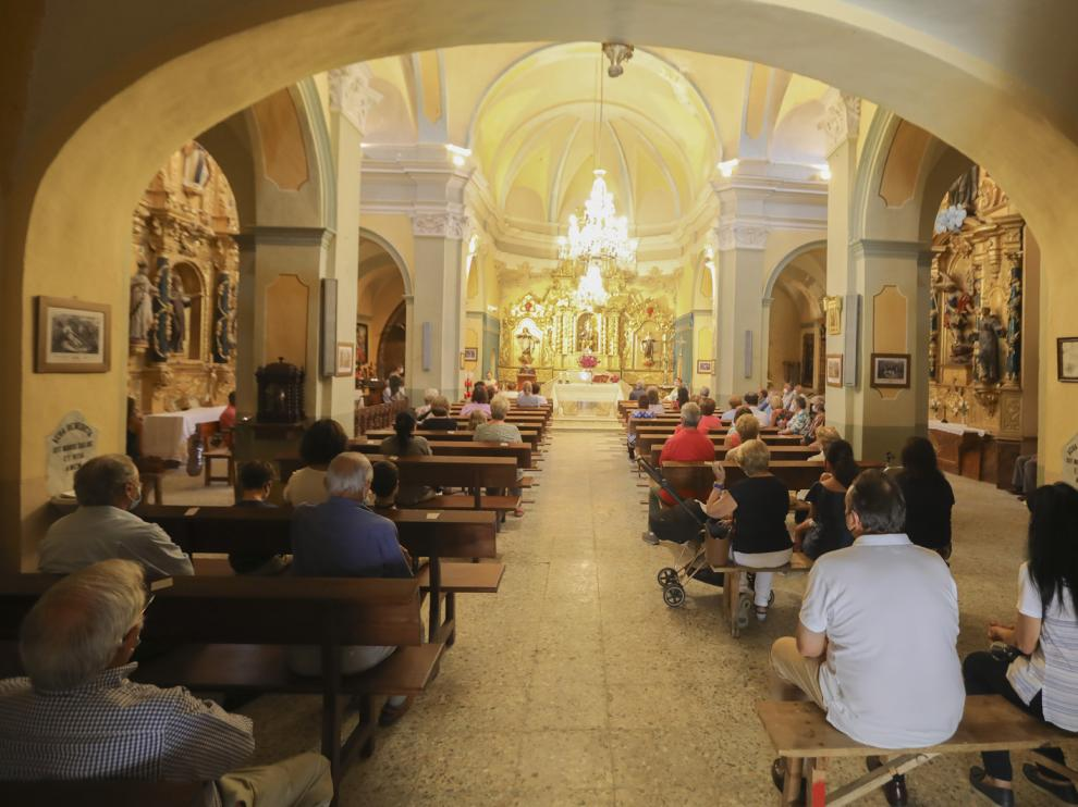 Los actos se suspendieron y quedaron limitados a una misa con aforo restringido por la covid