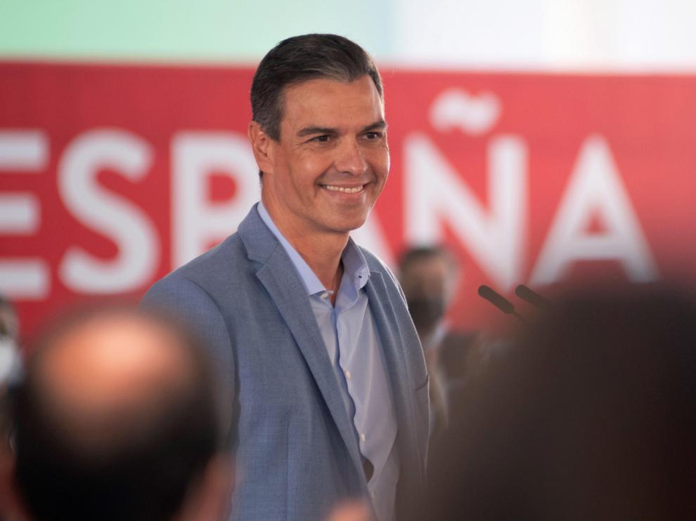Pedro Sánchez, en un mitin con afiliados socialistas que tuvo lugar el sábado en Jaén