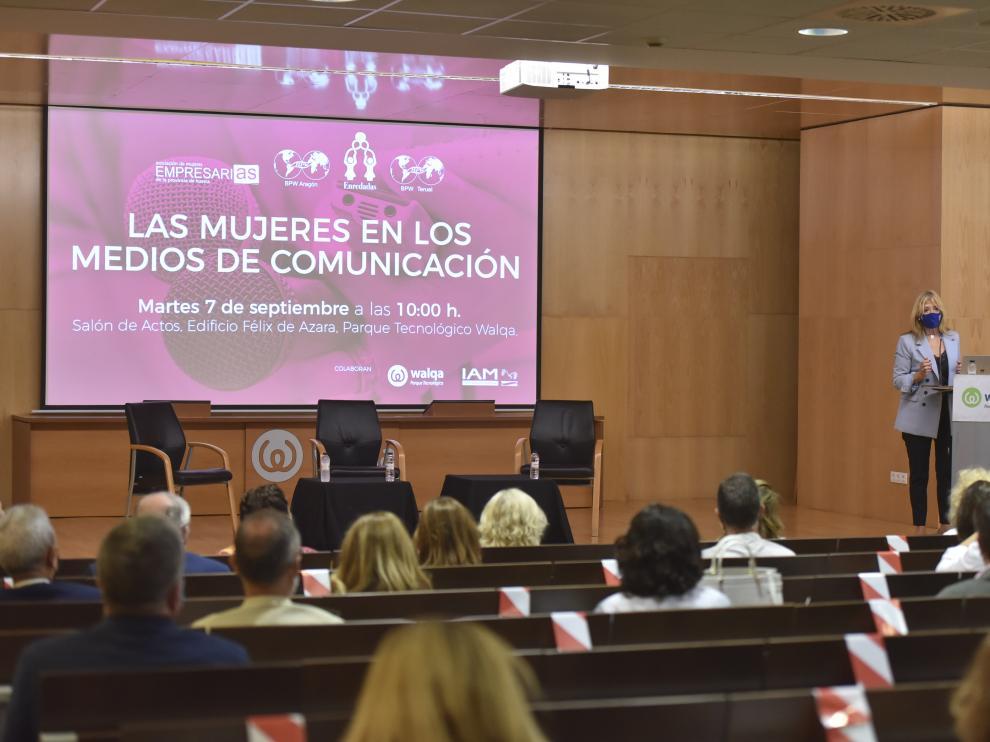 """Encarna Samitier durante su intervención en la jornada """"Mujeres en los Medios de Comunicación"""""""