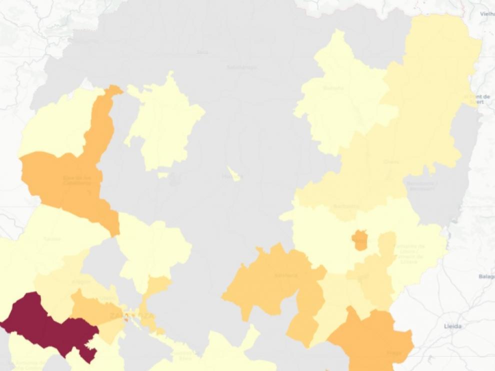 Monzón Urbana y Fraga, las zonas con mayor número de casos de covid este miércoles.