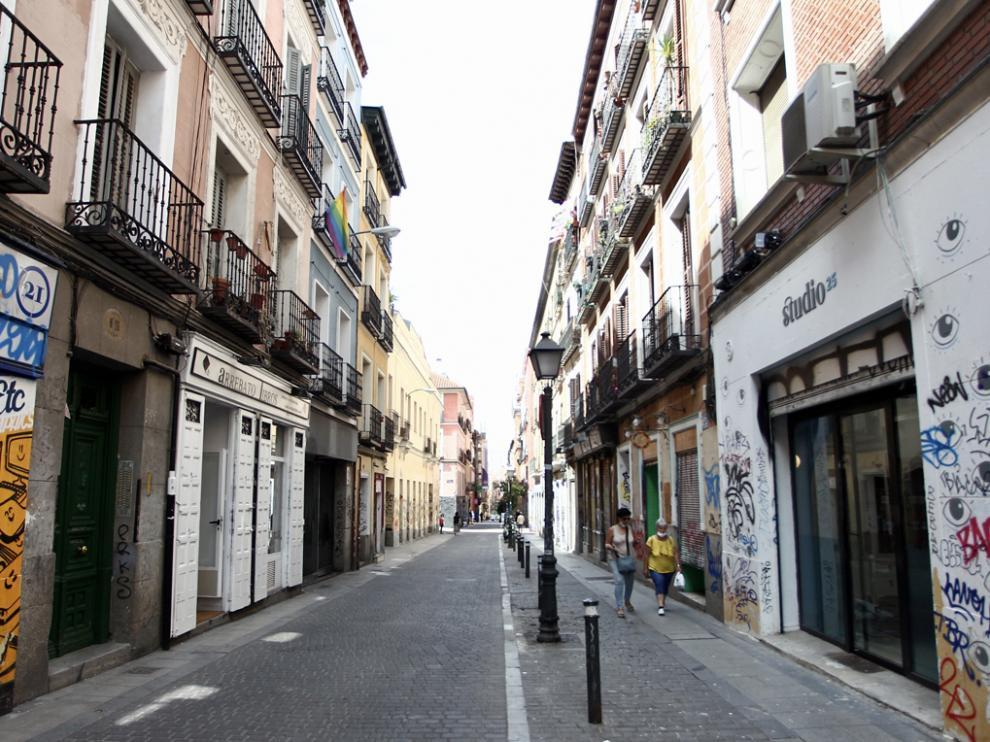 Una de las calles del barrio de Malasaña.