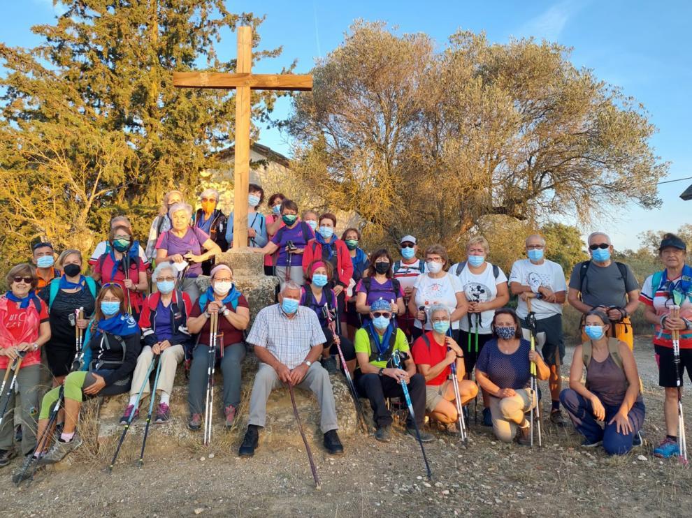 El grupo de senderistas, en Cregenzán