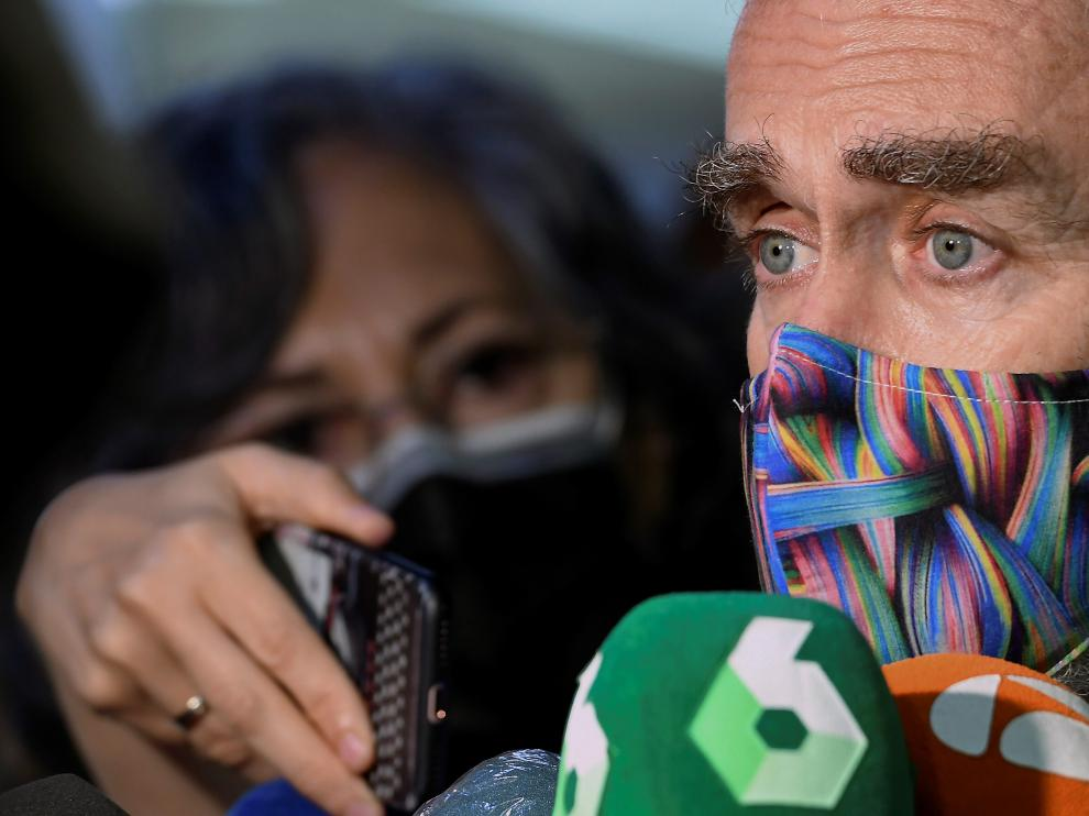 Fernando Simón, atendiendo ayer a los medios de comunicación.