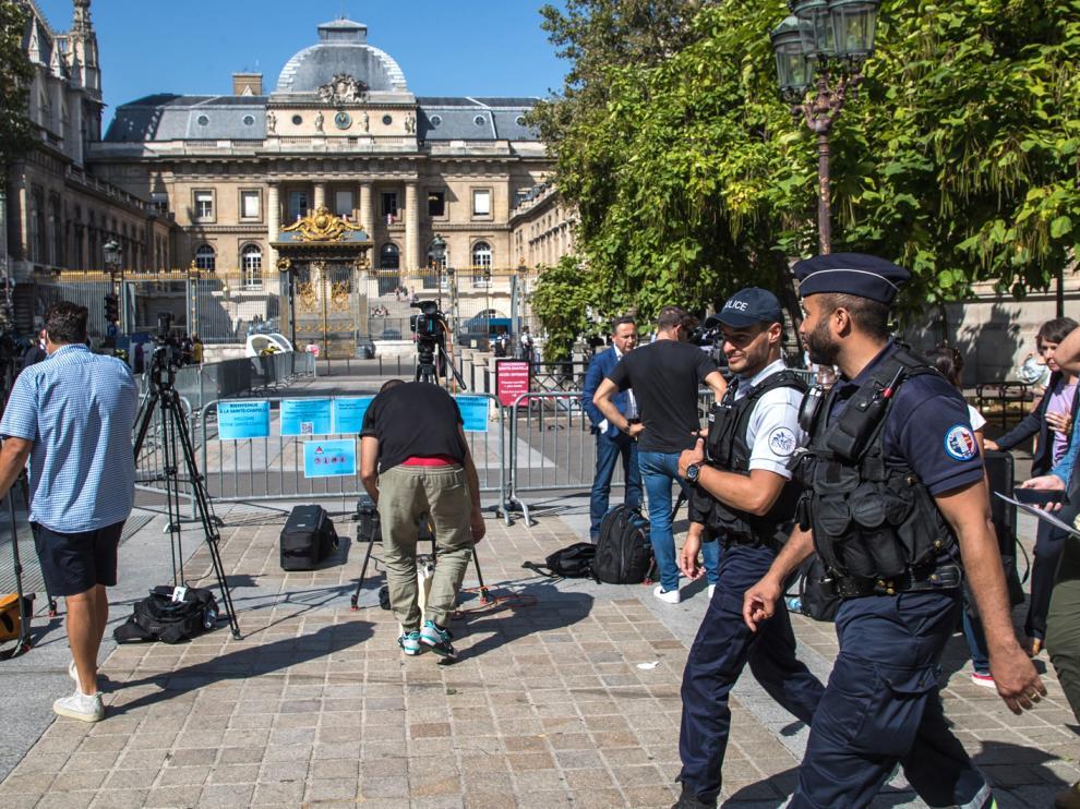 Los tribunales parisinos, blindados durante la primera jornada de juicio por los atendados del 13 de noviembre de 2015