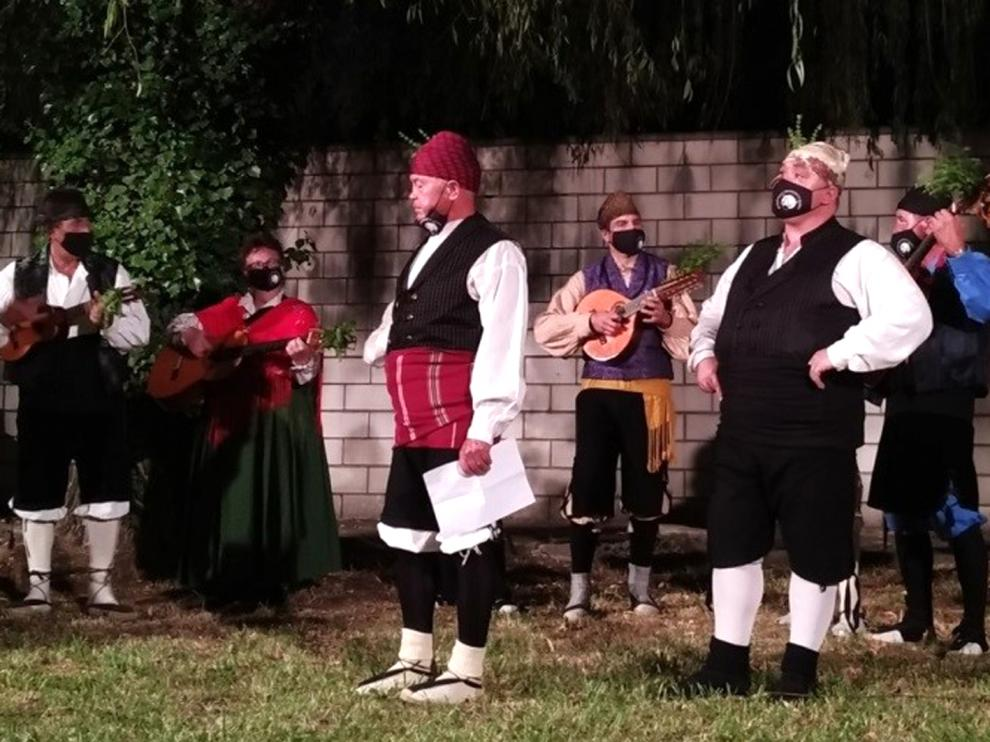 Actuación de la Ronda Baturra, protagonista este fin de semana en el municipio de Graus