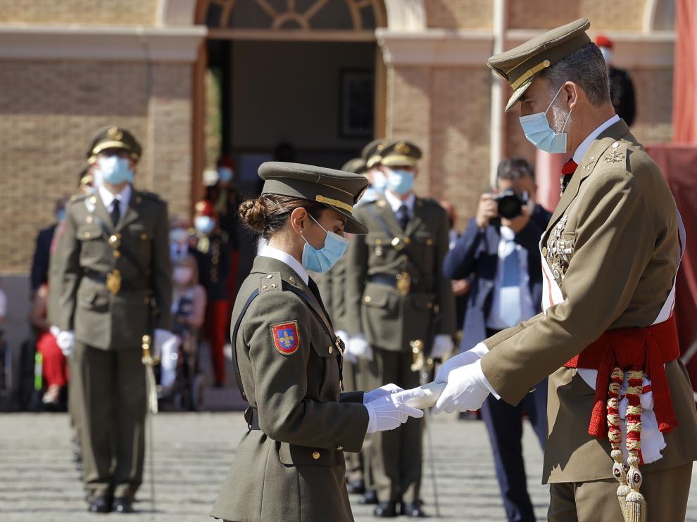 Felipe VI, el 9 de julio en la entrega de Reales Despachos en la Academia General Militar de Zaragoza.