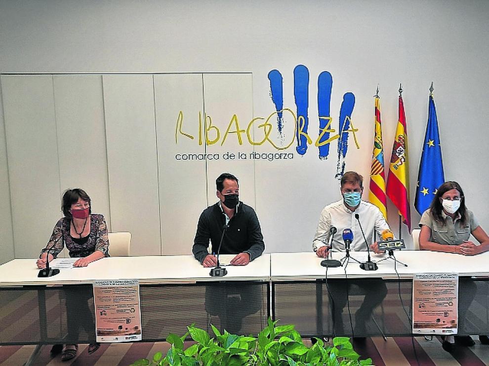 Marcel Iglesias, Isaac Sanromá, Helena Parga y Mireia Cabrero presentan el programa de actividades de Graus.