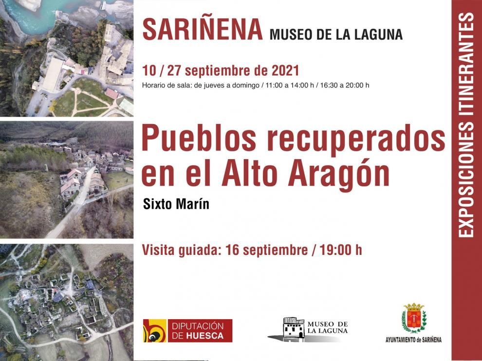 Cartel de una de las exposiciones itinerantes, que se muestra en Sariñena