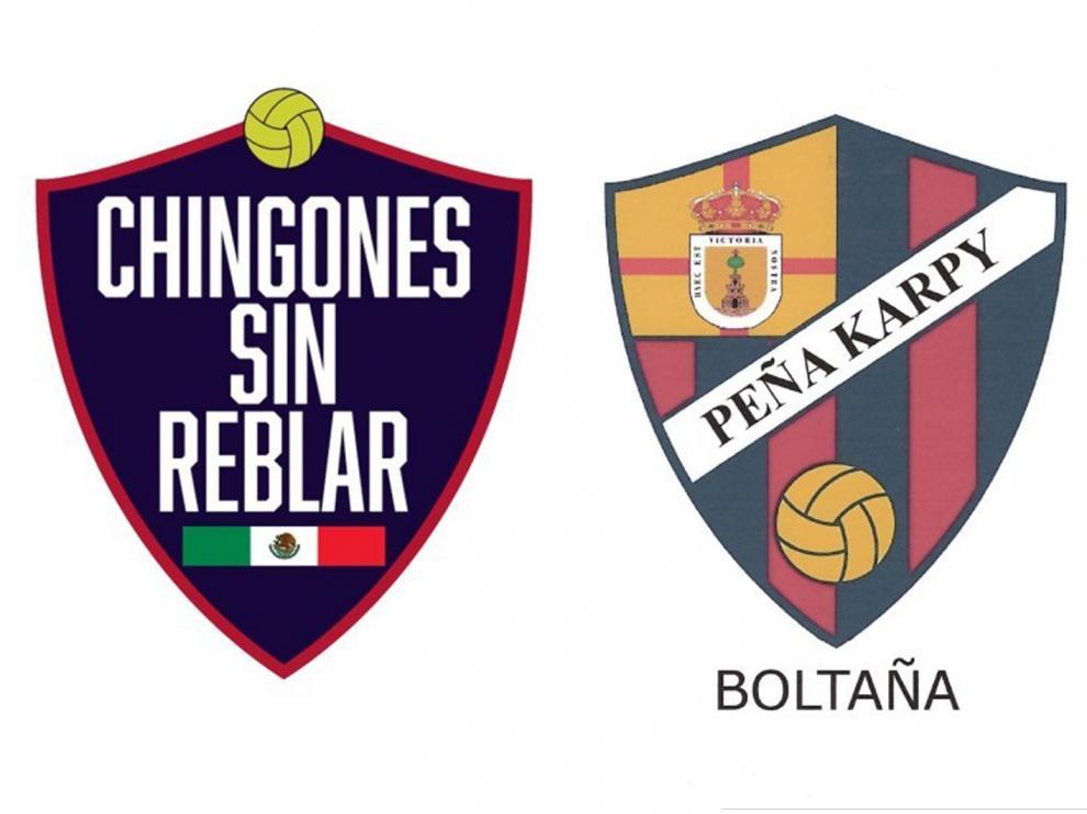 Logos de las dos nuevas peñas del Huesca