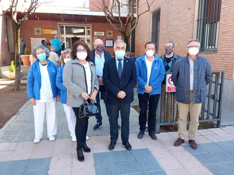 El Justicia de Aragón en el Centro Salud.