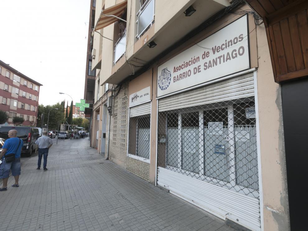 Local de la Asociación de Vecinos del Barrio de Santiago.