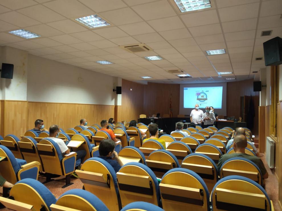 Acto de inauguración del Curso de Entomología de Grañén que este año llega a un decimonovena edición.