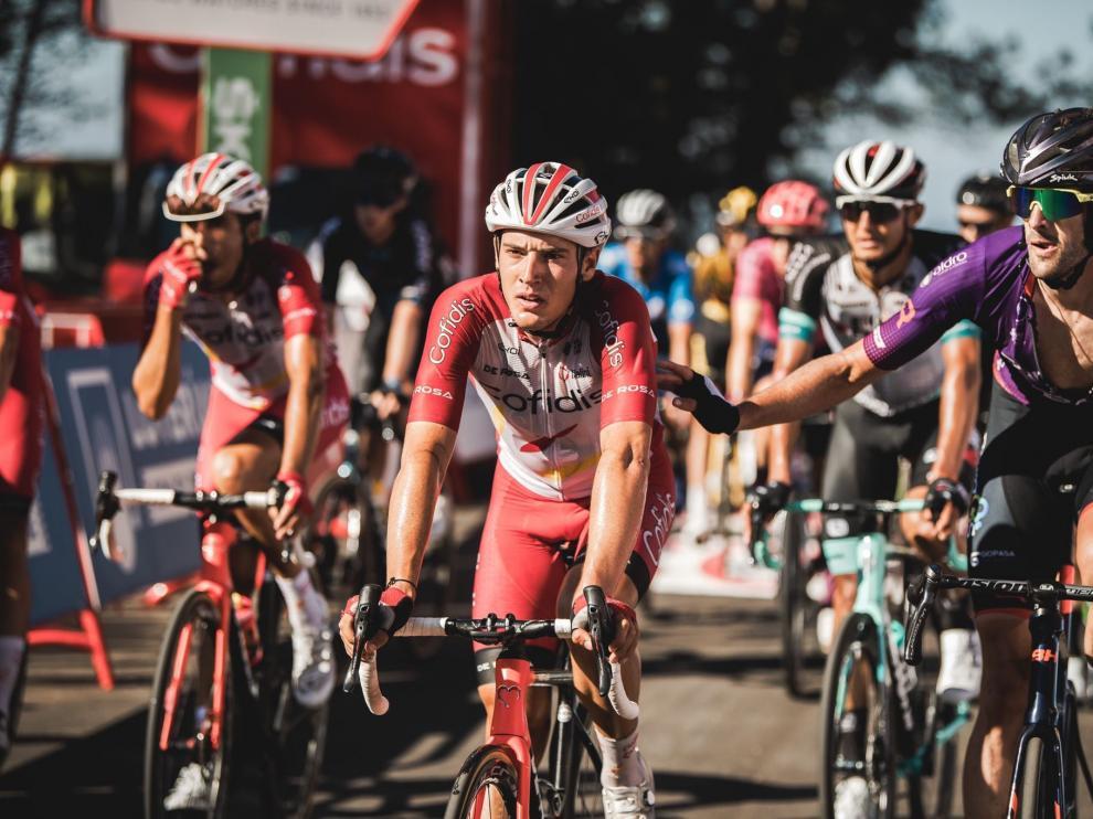 Fernando Barceló, en el final de una etapa de la reciente Vuelta a España.