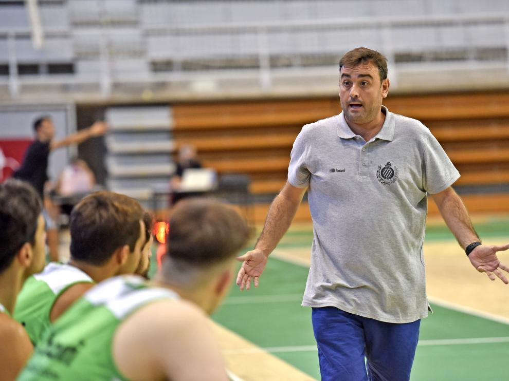 Sergio Lamúa, durante el encuentro jugado el domingo contra el Força Lleida en el Palacio de Deportes.