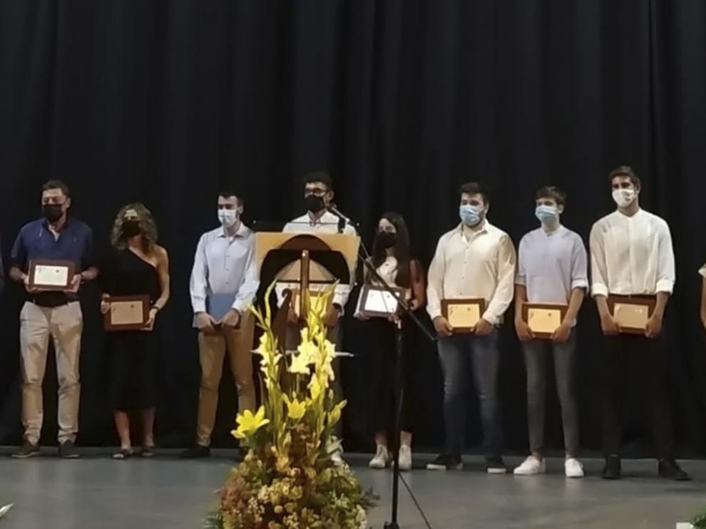 Foto de los premiados en la gala celebrada el miércoles.