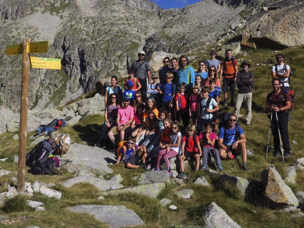 Pequeños y grandes disfrutaron de una ruta de alta montaña.