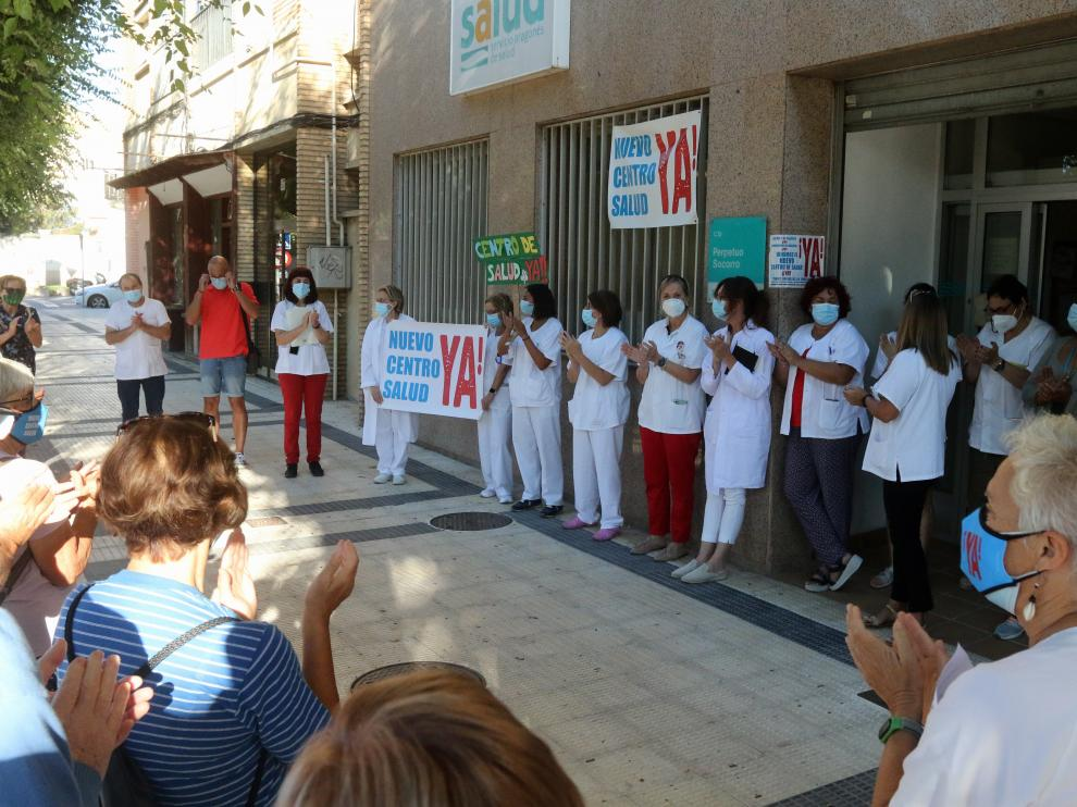 Concentración este viernes en la puerta del viejo centro de salud del paseo Ramón y Cajal.