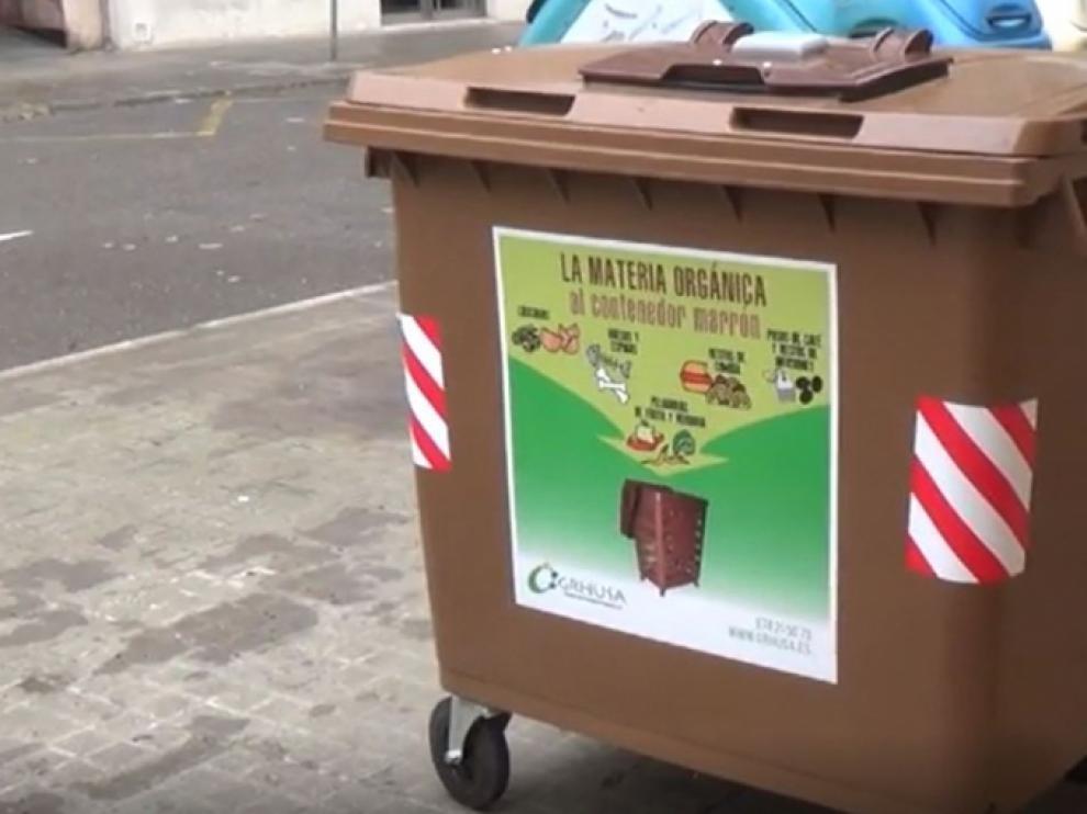Los contenedores marrones llegan a nuevos barrios de Huesca.