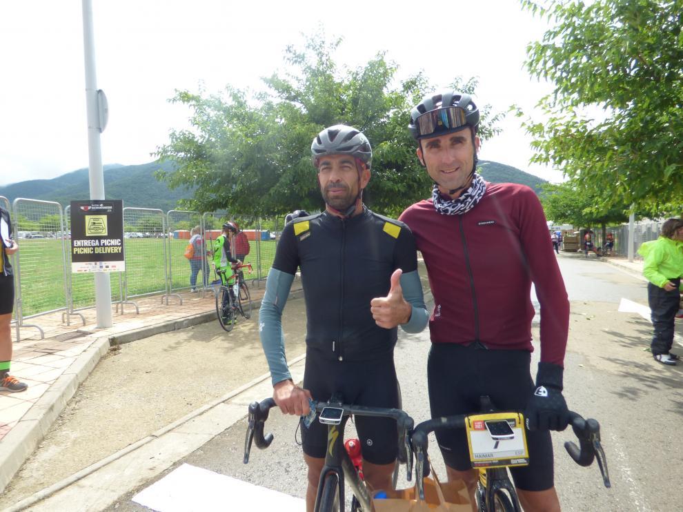 Dario Gadeo y Haimar Zubeldia los primeros en llegar de la Quebrantahuesos.