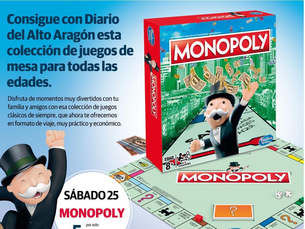 El juego del Monopoly será la primera entrega de la colección.