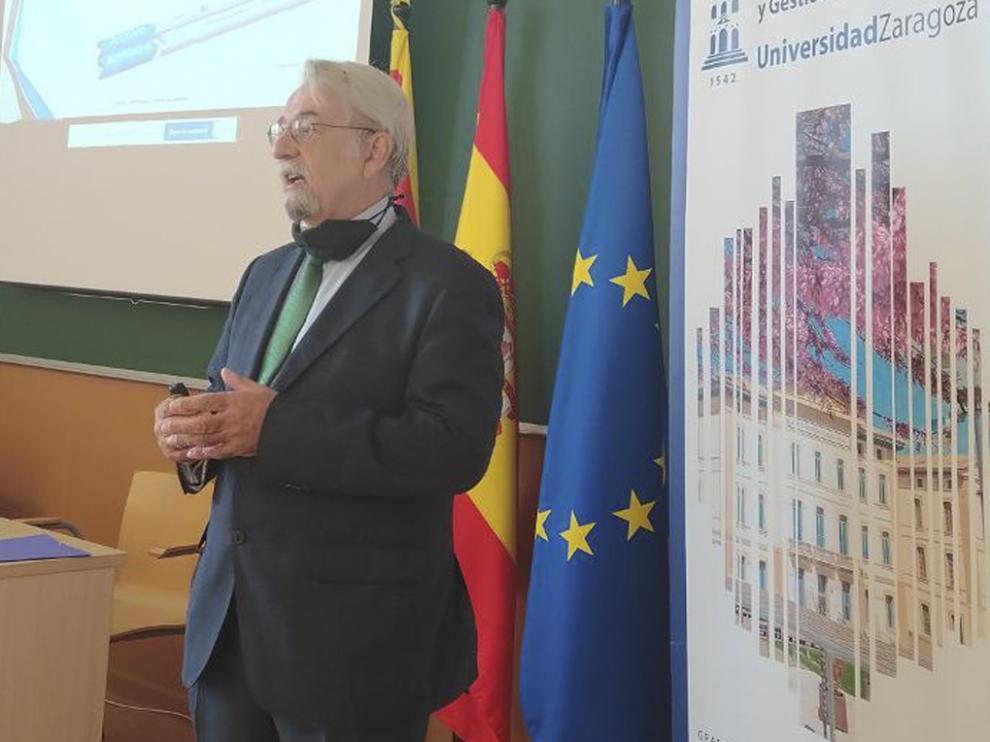 José María Subero, durante el curso de verano de la UIMP y UZ sobre la Administración Pública.