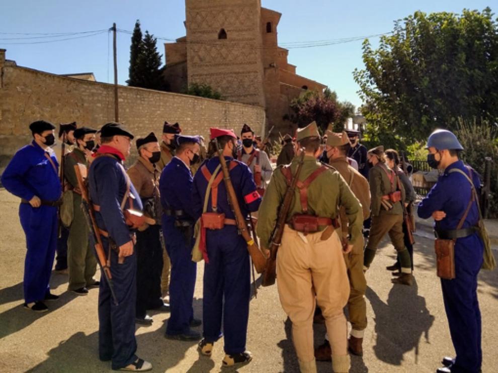 Alcubierre retrocedió hasta la Guerra  Civil durante el fin de semana gracias a las recreaciones históricas.