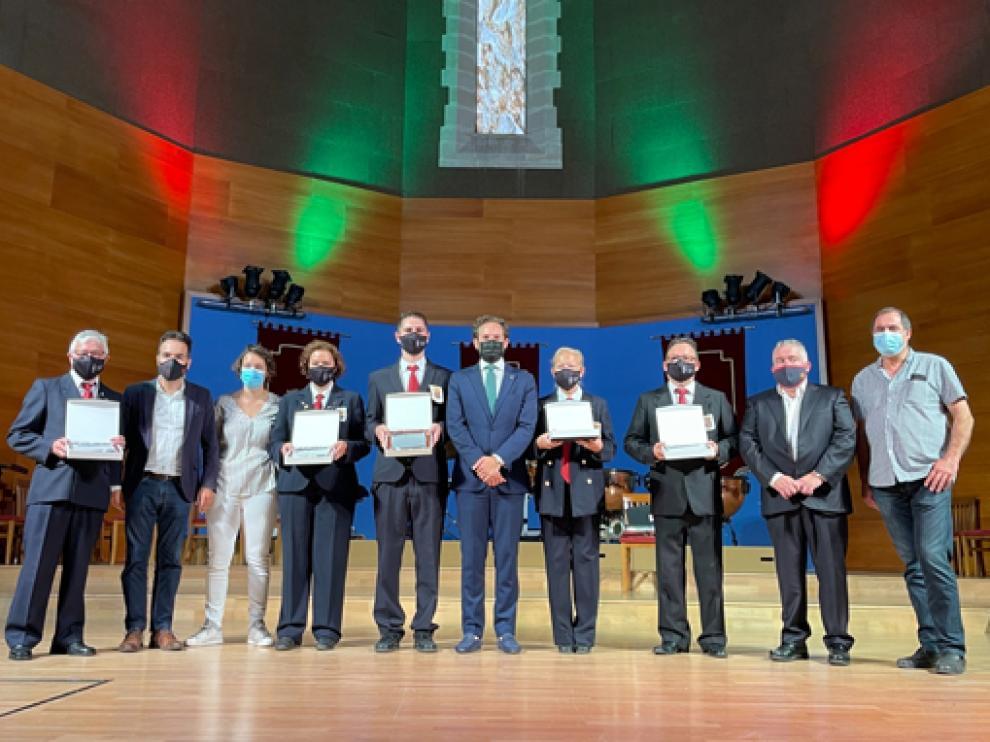 Imagen de los homenajeados