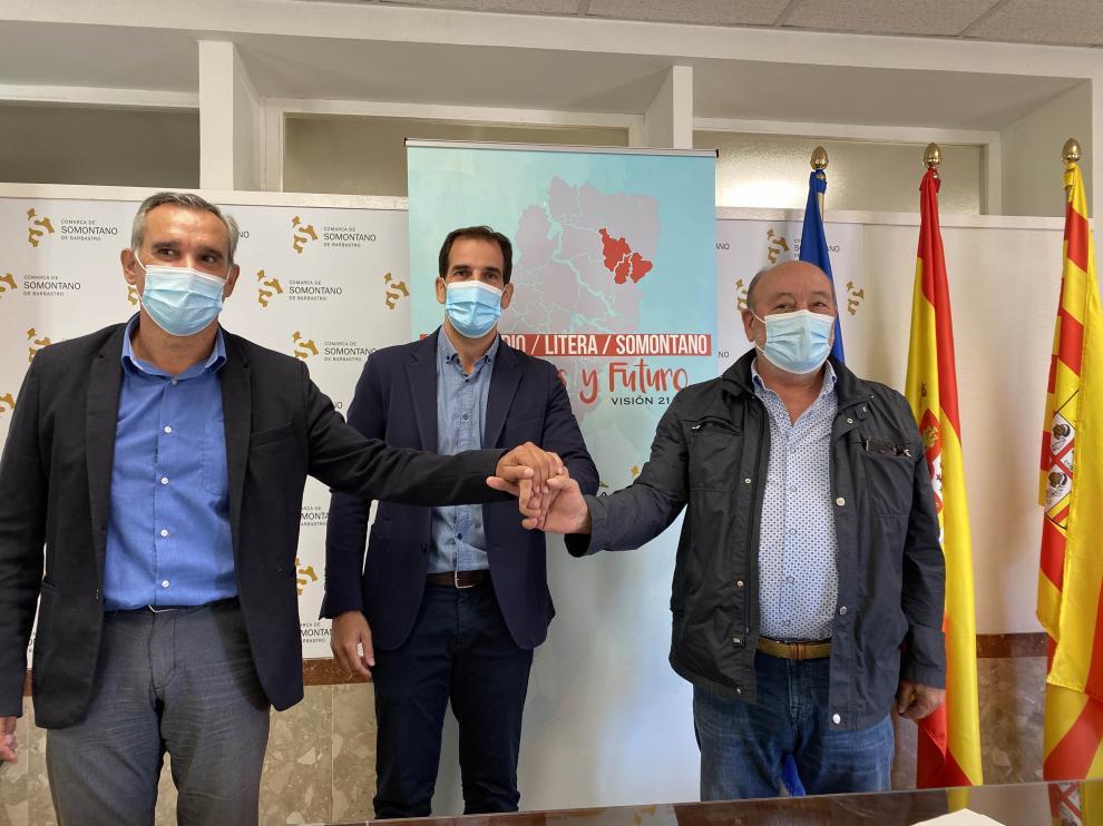 Los presidentes de las tres comarcas han marcado unos objetivos comunes.