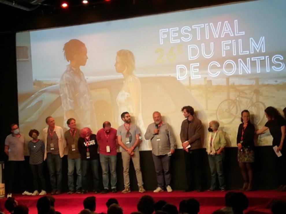La delegación de Ascaso, en el Festival de Contis.