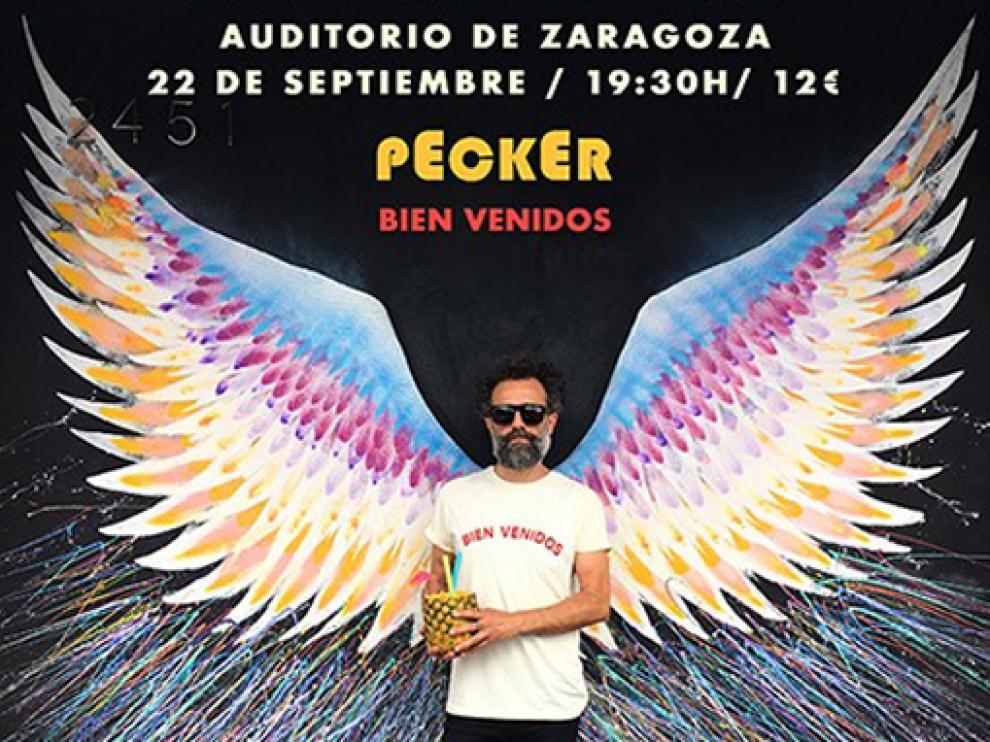 """Pecker ofrece esta tarde en el Auditorio de Zaragoza un concierto """"único e irrepetible""""."""