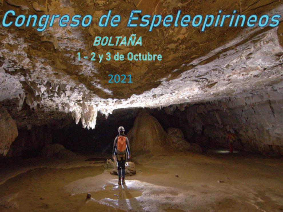 Cartel del congreso de Espeleología