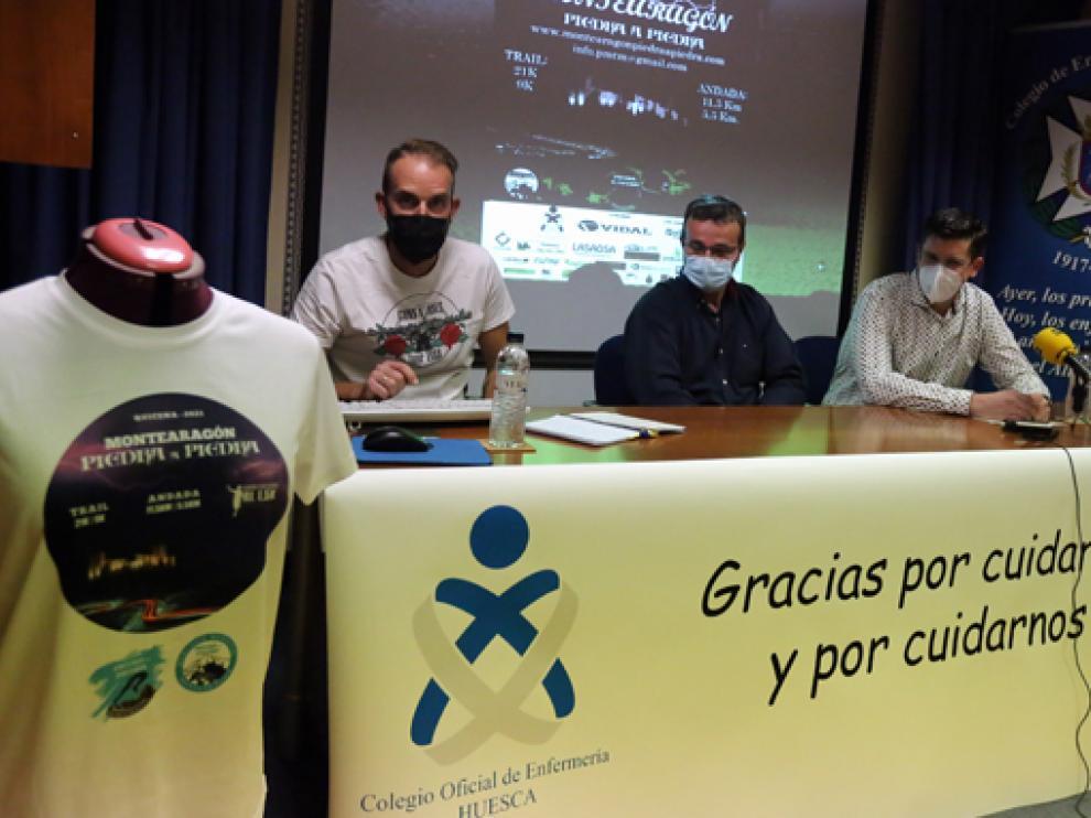 Fernando Vinué, Rafael Blasco y Ricardo López en la presentación de la prueba.