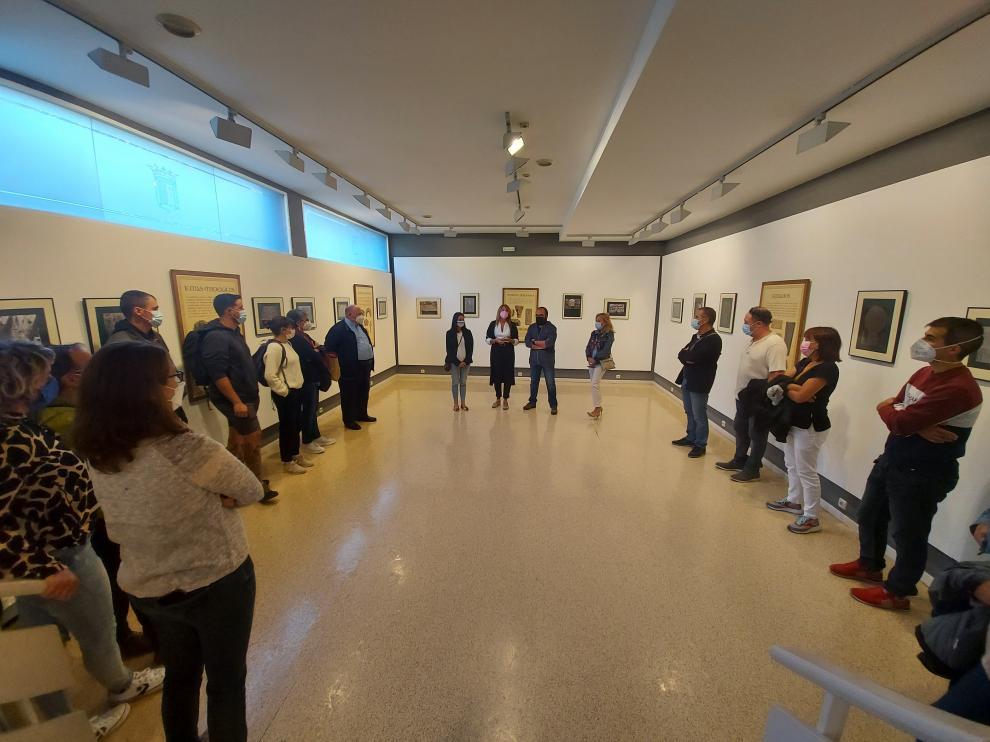 Inauguración de la exposición Cuando las piedras hablan. Simbología pirenaica, en la Sala de Arte.