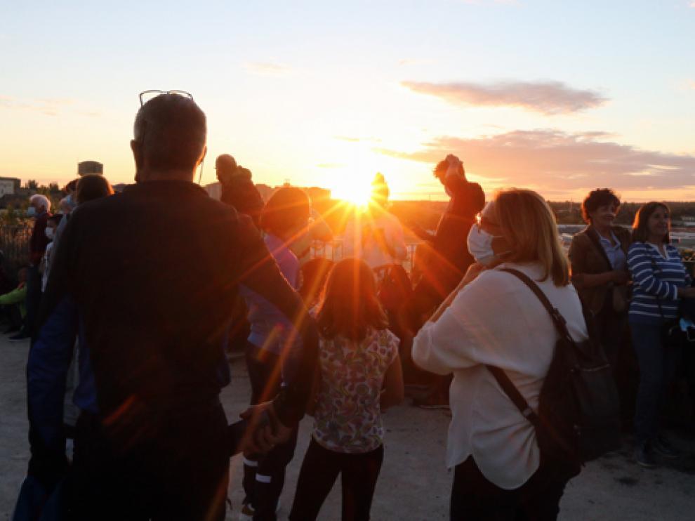 La observación se llevó a cabo en el Parque de las Mártires de la Libertad de Huesca