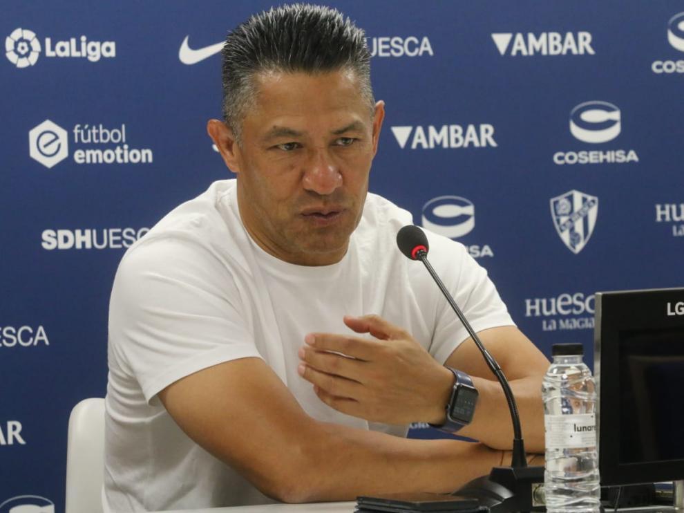 Nacho Ambriz, durante la rueda de prensa de este jueves.