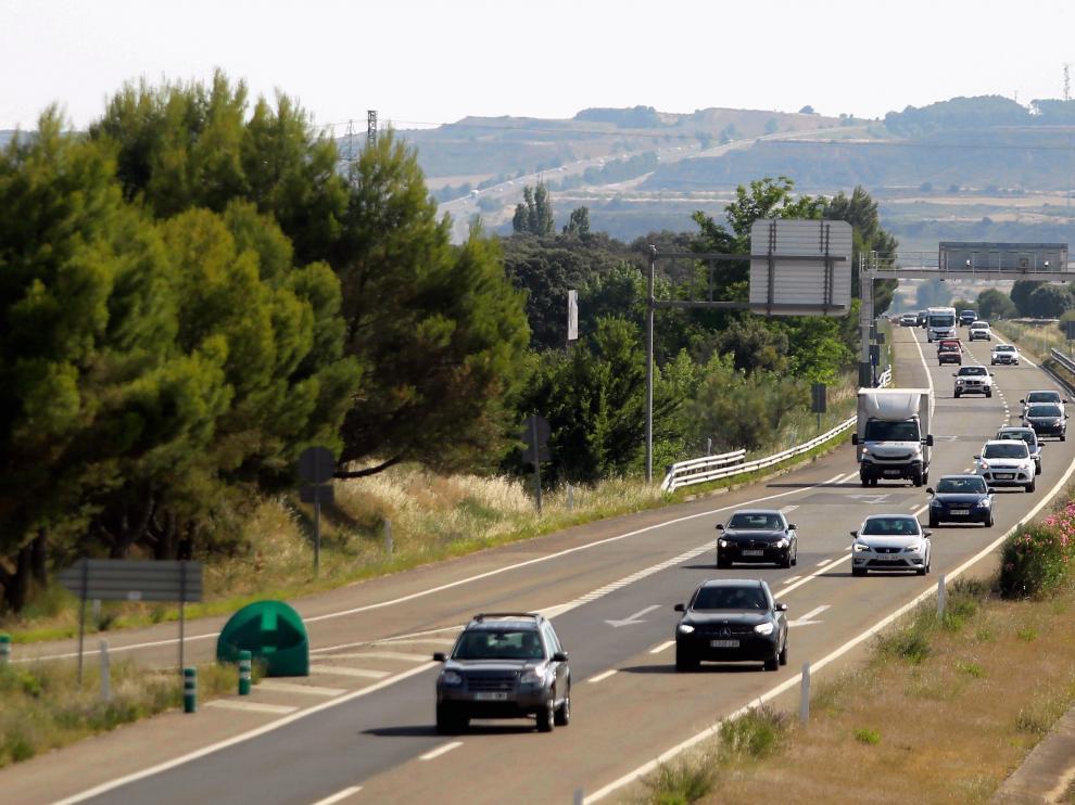 Vehículos en la autovía A-23.