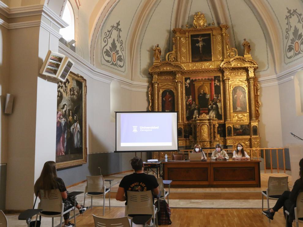 Acto de bienvenida realizado por la Universidad a los estudiantes Erasmus del presente curso.