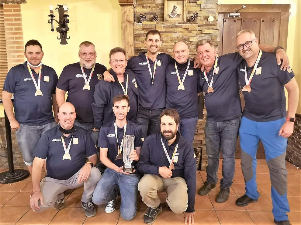 El equipo de Aragón consiguió el bronce en el Nacional celebrado en León.