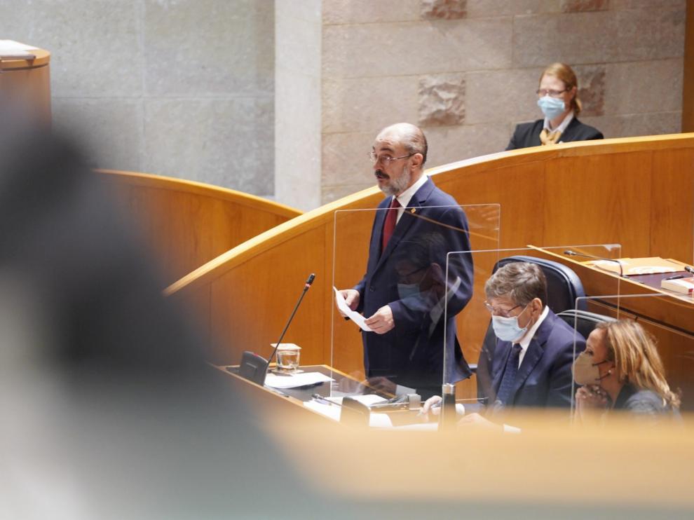 El presidente del Gobierno aragonés, Javier Lambán, este viernes