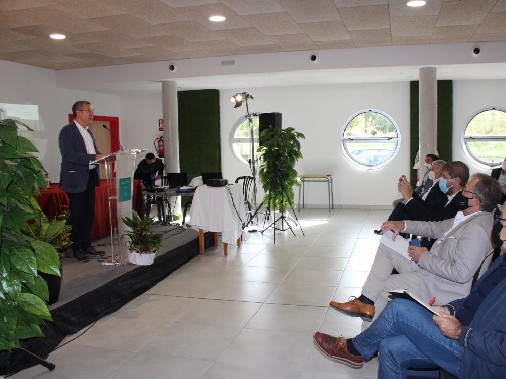 El secretario general para el Reto Demográfico, Francesc Boya, en la apertura de las jornadas.
