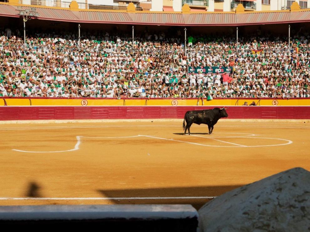 Imagen de archivo durante una de las corridas taurinas durante San Lorenzo del 2019.