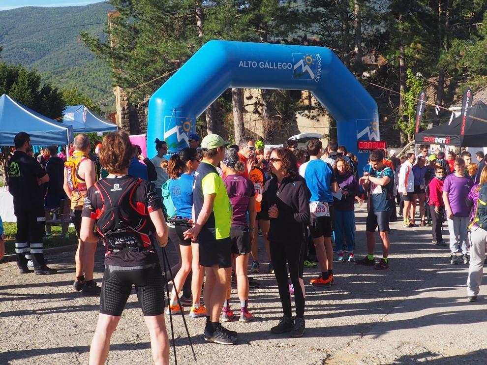 Ambiente que se genera el día de la celebración de la trail Traschinepro