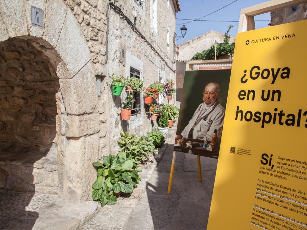 La exposición ¿Goya en un hospital? se podrá ver este sábado y domingo en Villanueva de Sijena.