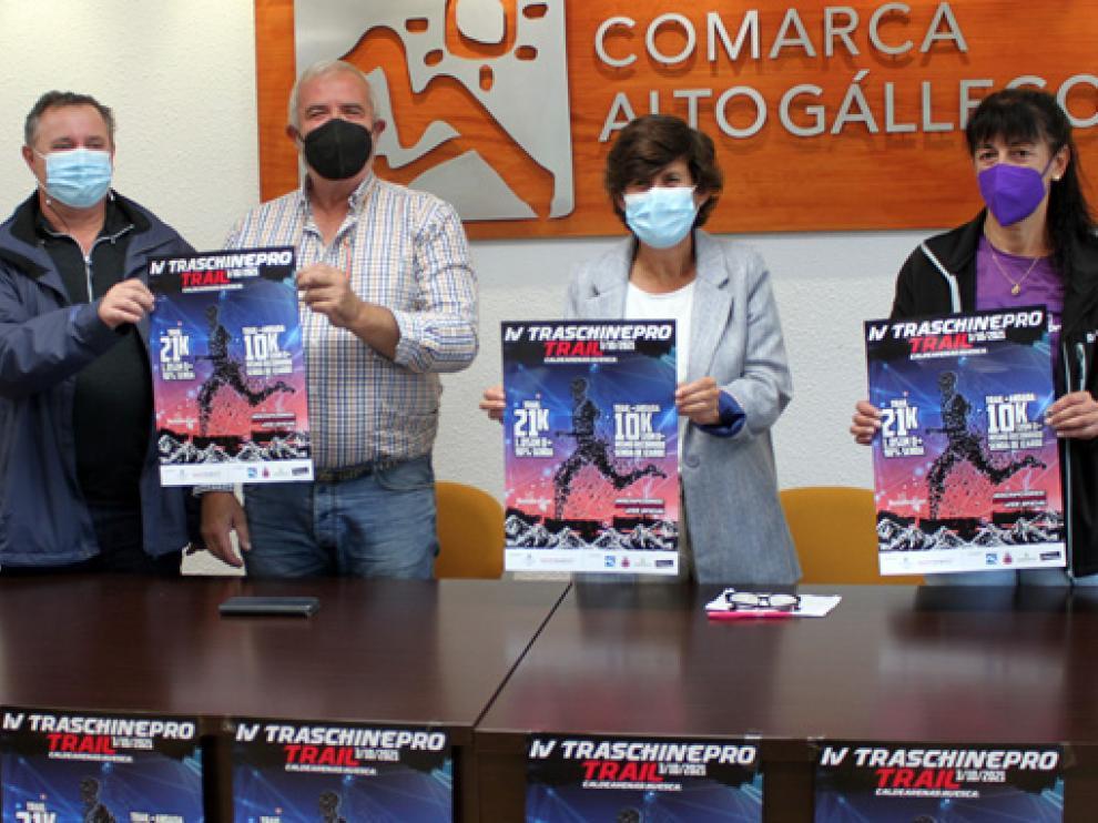 La Traschinepro fue presentada ayer en la sede de la Comarca Alto Gállego.