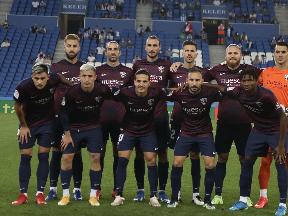 Once inicial del Huesca ante la Sociedad B.