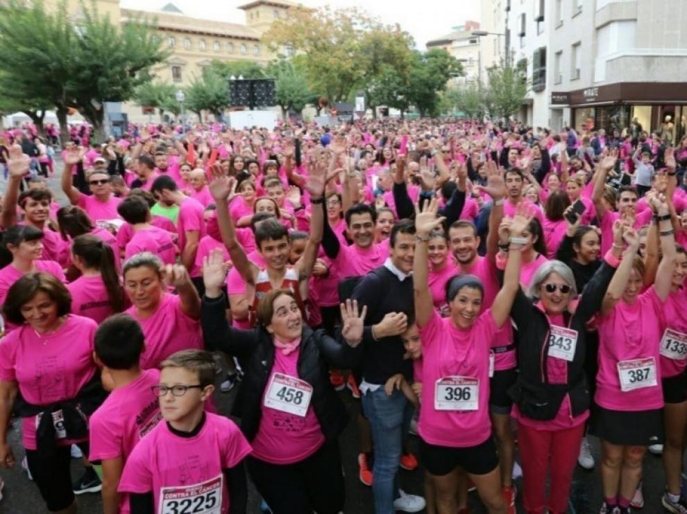 Edición anterior de la carrera 'Huesca contra el cáncer'
